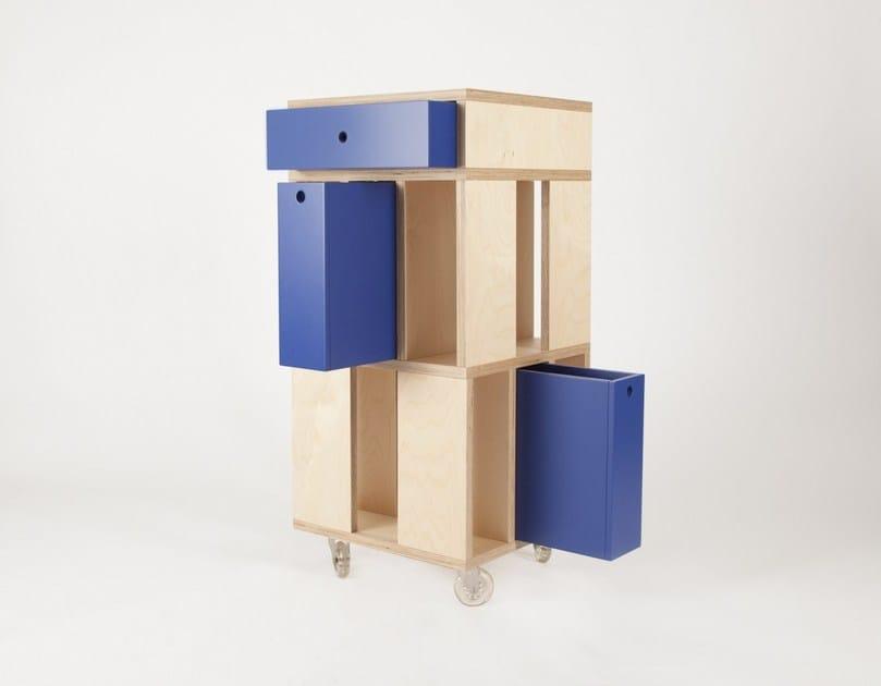 mobile contenitore con cassetti su ruote building 3m malherbe edition. Black Bedroom Furniture Sets. Home Design Ideas