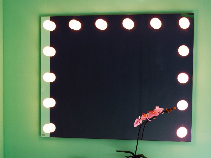 Wall-mounted mirror with integrated lighting BULBLINE by Top Light