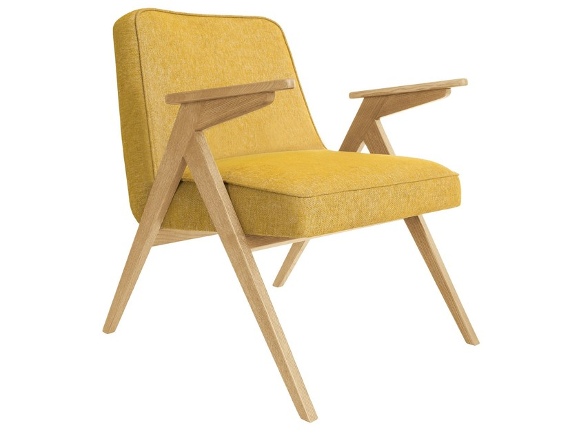 Chenille easy chair with armrests BUNNY LOFT | Easy chair by 366 Concept s.c.