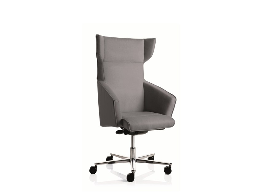 Medium back executive chair with 5-spoke base with armrests BUSINESS CLASS | Medium back executive chair - Emmegi