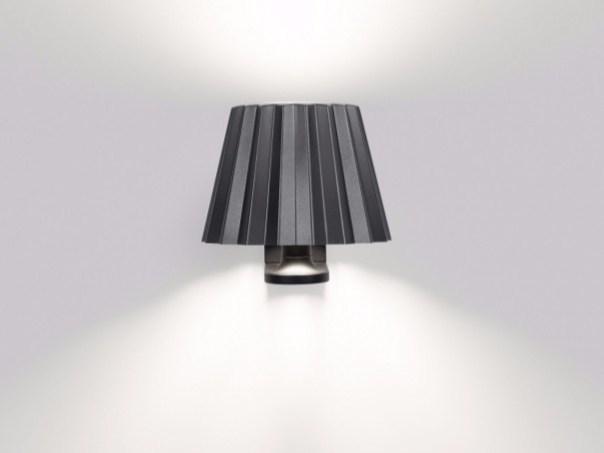 LED direct-indirect light aluminium wall light BUTLER W DOWN-UP | Wall light - Delta Light