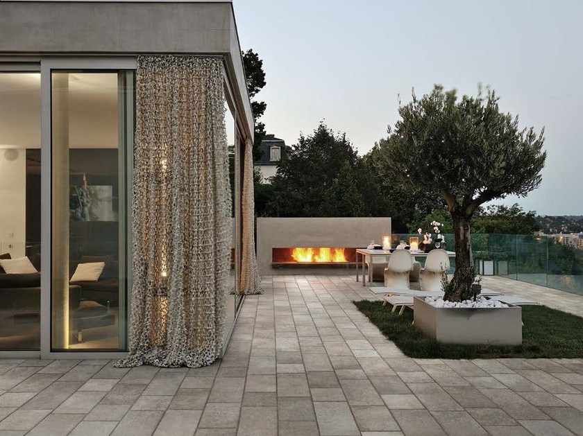 Porcelain stoneware outdoor floor tiles with stone effect BUXSTONE | Outdoor floor tiles - Panaria Ceramica