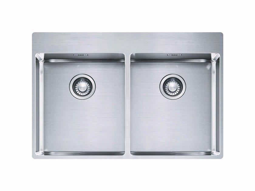 Lavello a 2 vasche da incasso in acciaio inox BXX 220 36-36 TL by FRANKE