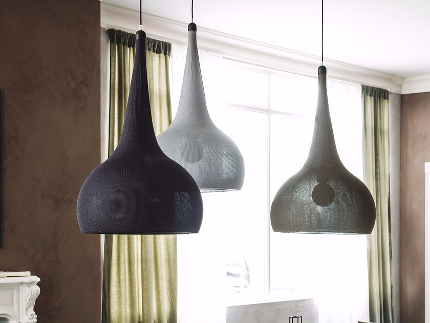 Fabric pendant lamp BYBLOS | Pendant lamp by Cattelan Italia