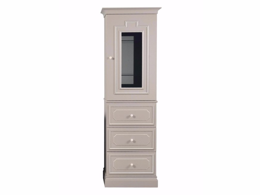 Tall wooden bathroom cabinet with drawers BYRON ETAGERE by GENTRY HOME