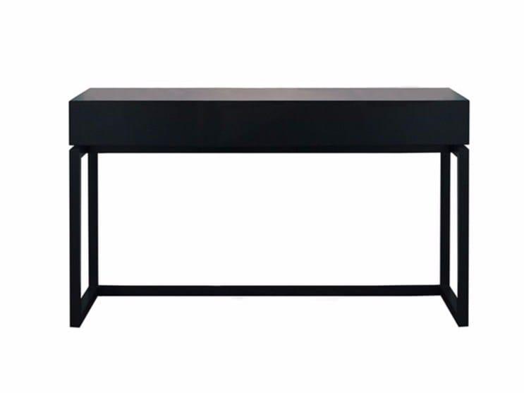 Rectangular wooden writing desk BYRON | Writing desk - SOFTHOUSE