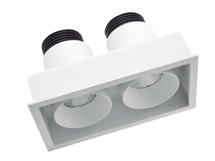 Faretto a LED rettangolare in alluminio da incasso BYTE 2 by LED BCN