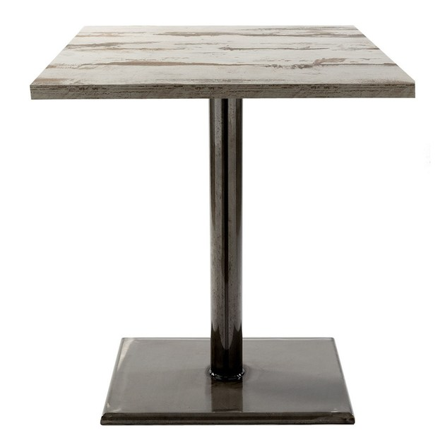 Square metal contract table BAPIA-WELD by Vela Arredamenti