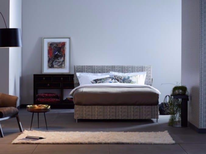 Upholstered fabric double bed Basis 18 + DUE - Schramm Werkstätten