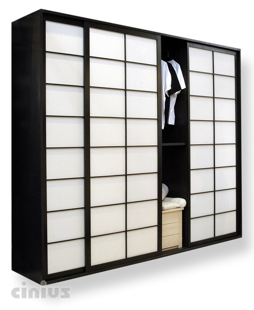 Beech wardrobe with sliding doors Beech wardrobe - Cinius