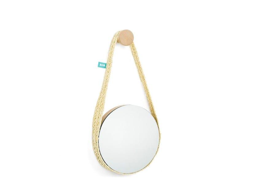 Contemporary style ecologic round hall mirror Bela Small - DAM