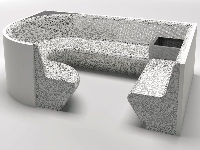 Panca per bagno turco in EPS Panca per bagno turco - La Veneta Forme