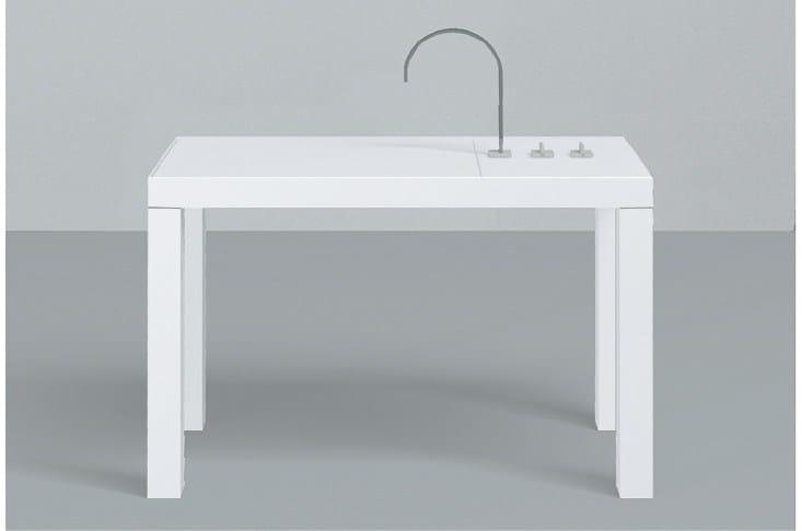 Washplace from glazed steel Betty Blue - ALAPE
