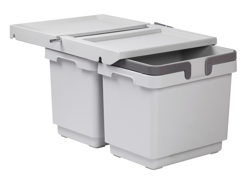 White Kitchen Bin plastic kitchen bin for waste sorting bin kit 12l + 12lwürth