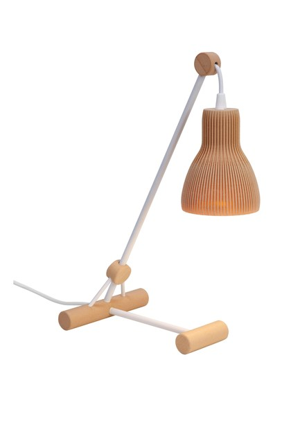 Contemporary style wooden table lamp BIO S by luxcambra