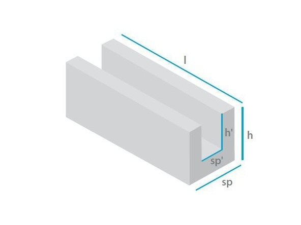 Lightweight concrete block for internal partition Blocks for slabs - mattONE® by Doc Airconcrete