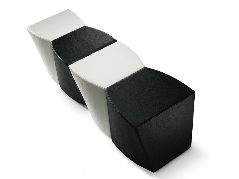 Upholstered pouf Boom P0007 by Metalmobil