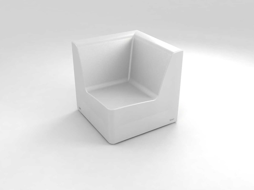 Polyethylene garden armchair with light BRISA MODULAR CORNER by Lamalva