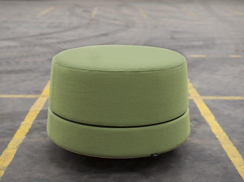 Upholstered fabric pouf BUZZIBALANCE - BuzziSpace