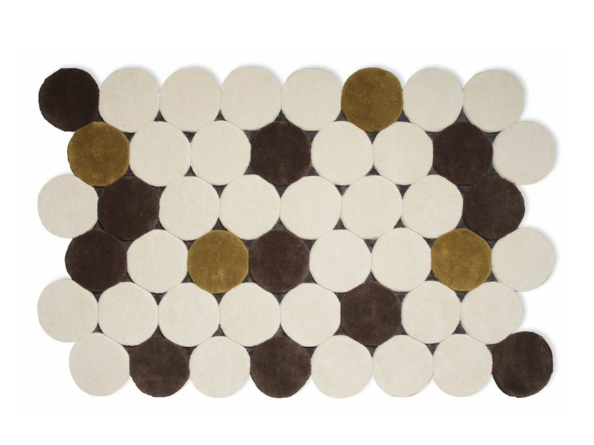 Wool rug with geometric shapes CÍRCULOS - GAN By Gandia Blasco