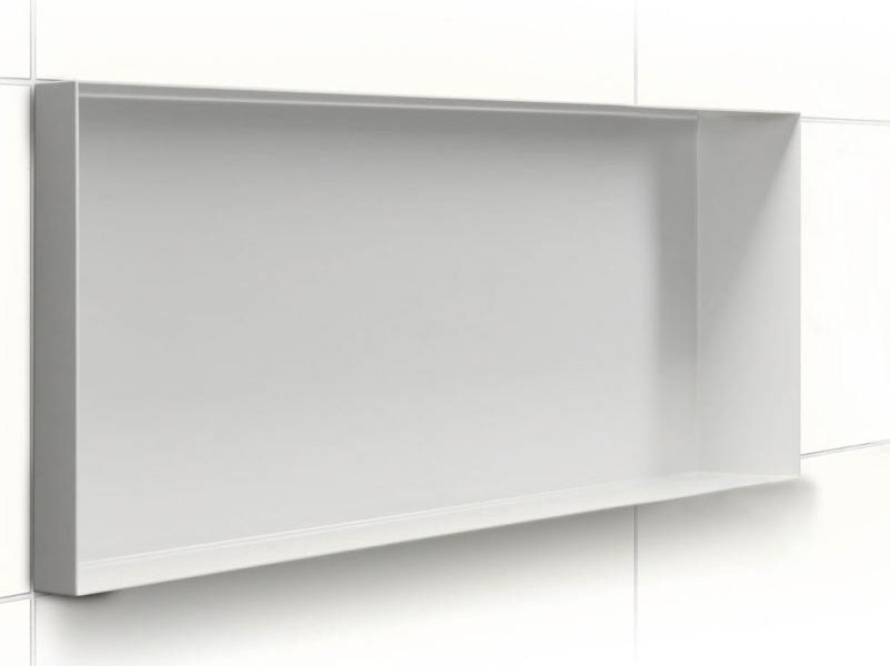 Stainless steel wall niche / bathroom wall shelf C-BOX Creme - Easy Sanitary Solutions