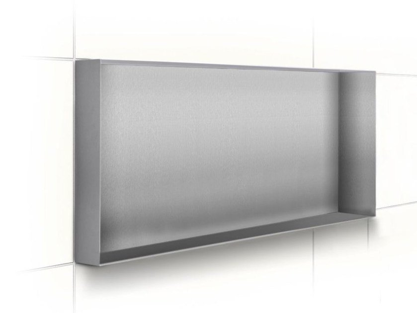 Stainless steel wall niche / bathroom wall shelf C-BOX STAINLESS STEEL - Easy Sanitary Solutions