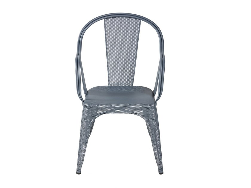 Sedia da giardino in rete metallica con braccioli C | Sedia in rete metallica - Tolix Steel Design