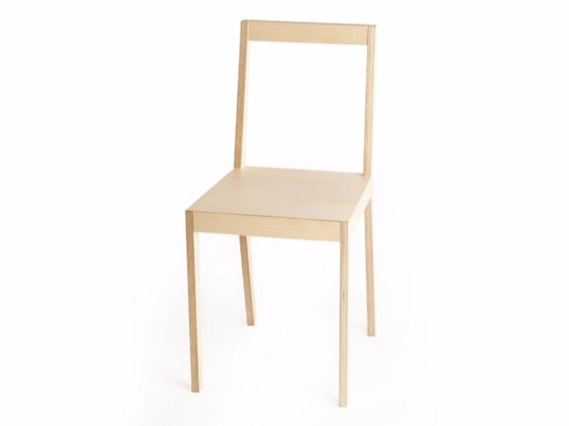 Multi-layer wood chair C1 | Chair - MALHERBE EDITION