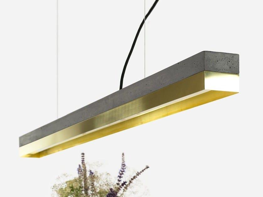 Lampada a sospensione a LED a luce diretta in ottone [C1] DARK BRASS - GANTlights