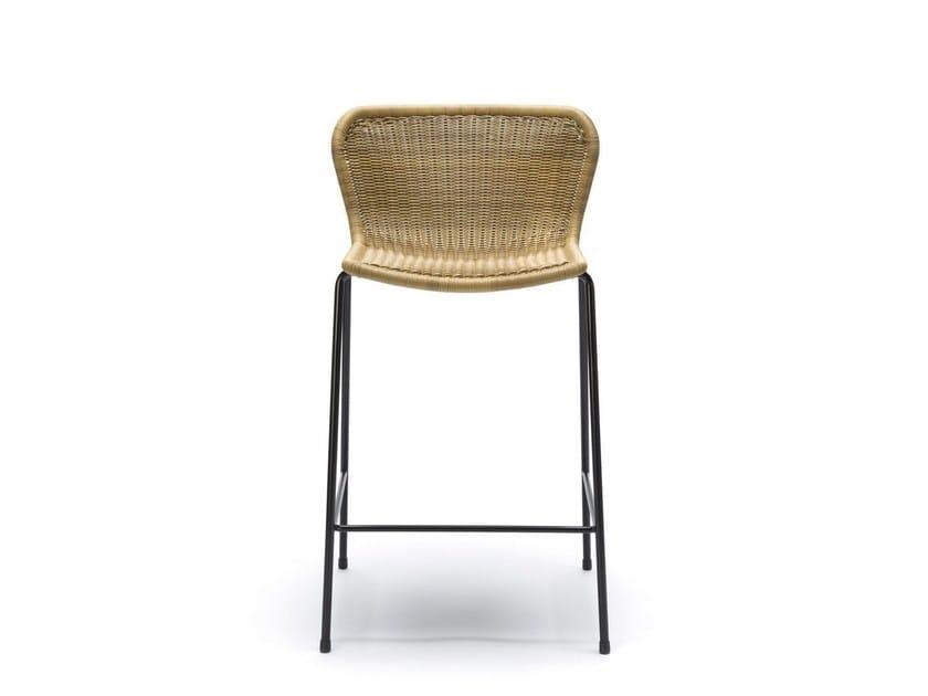 Polyethylene garden stool with footrest C603 OUTDOOR | Stool - Feelgood Designs
