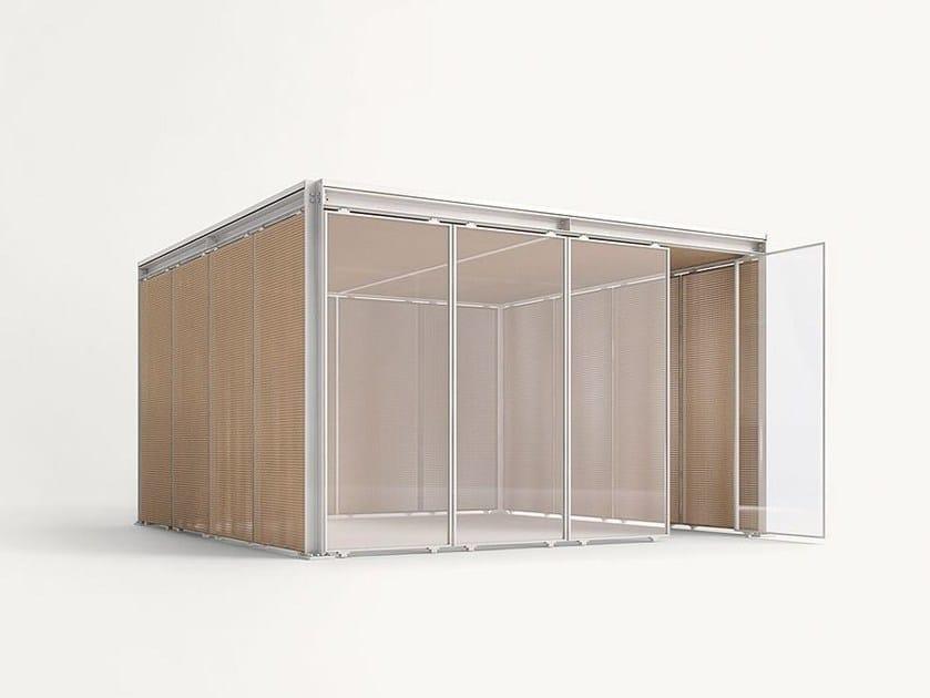 Aluminium and wood gazebo CABANNE MODULO QUADRO - Paola Lenti