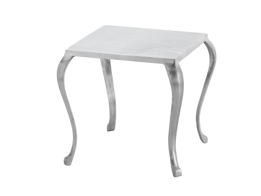 Square aluminium coffee table CABRIOLÉ | Square coffee table - GAN By Gandia Blasco