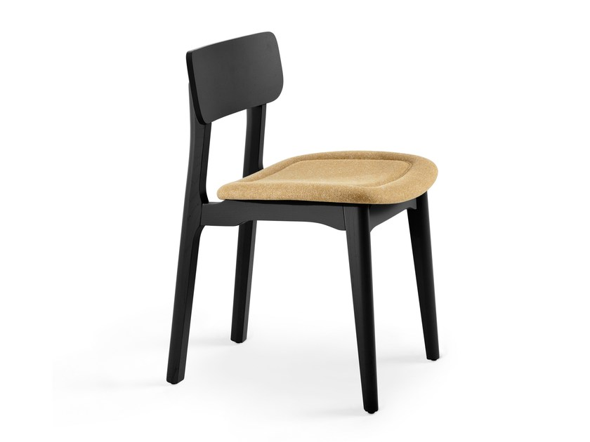 Upholstered wooden chair CACAO S - CHAIRS & MORE