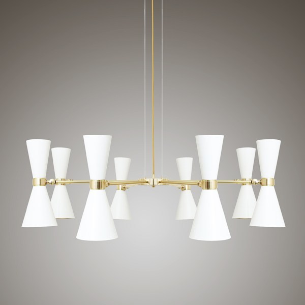 Direct light brass chandelier CAIRO | Chandelier - Mullan Lighting