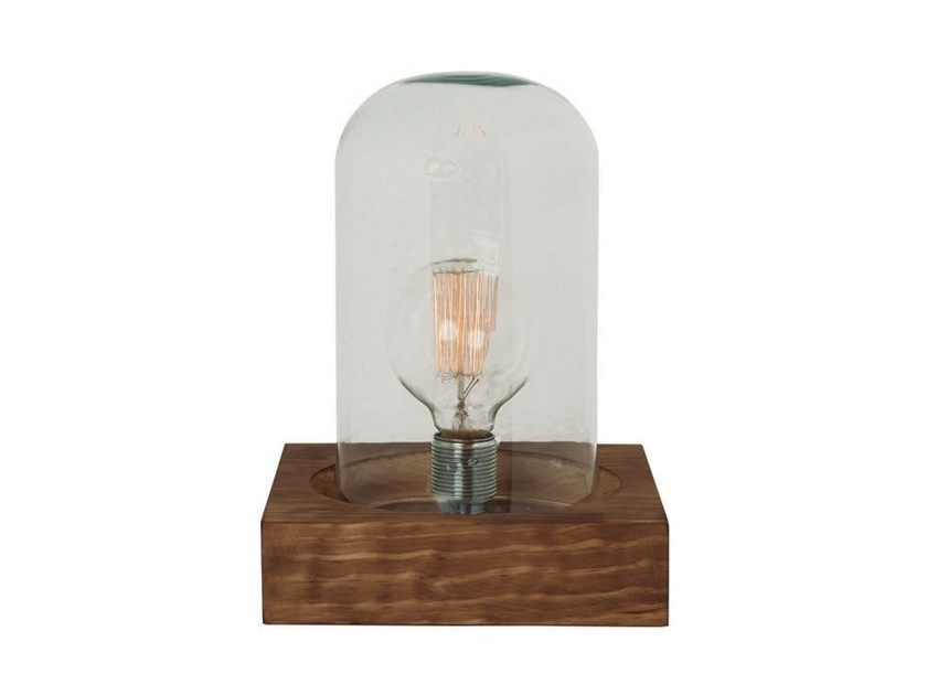 Wood and glass table lamp CAKER - Aromas del Campo
