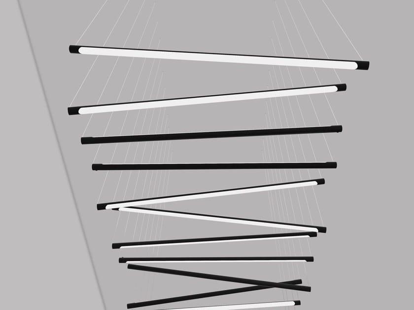 Aluminium pendant lamp CALABRONE | Pendant lamp - Martinelli Luce