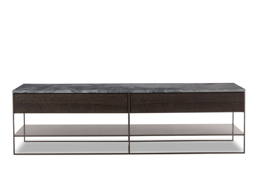 Coffee table CALDER BRONZE CONSOLLE - Minotti