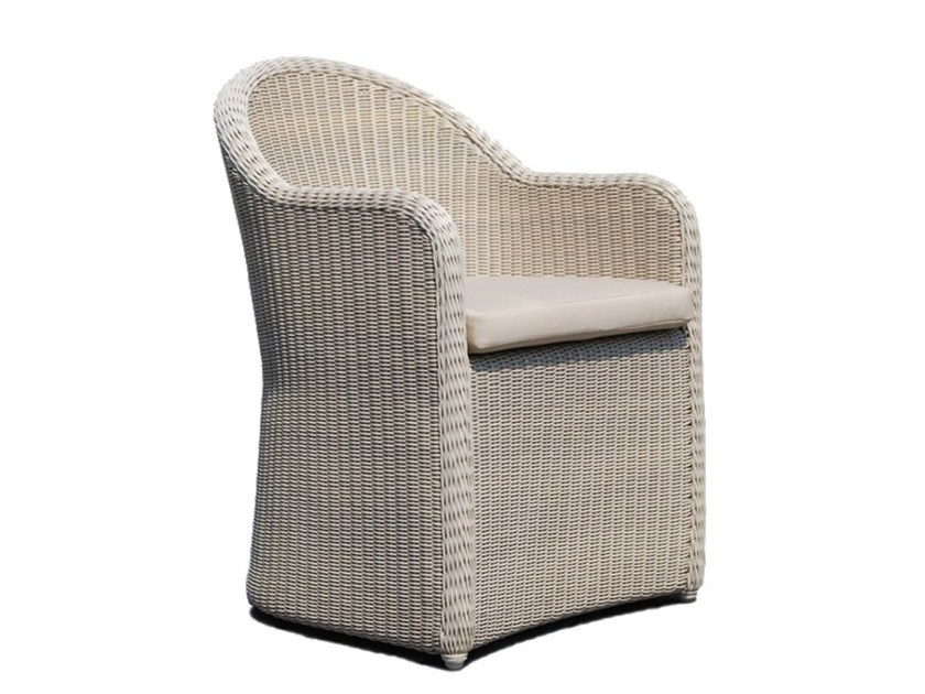 Sedia da giardino in polietilene con braccioli CALDERAN 21124 - SKYLINE design