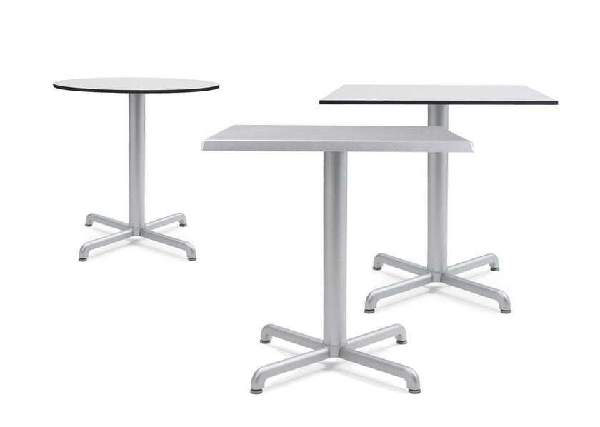 Contemporary style die cast aluminium contract table with 4-star base CALICE | Table - Nardi
