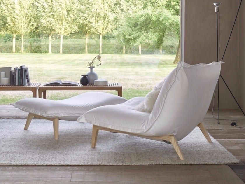 Fabric armchair with removable cover CALIN | Armchair - ROSET ITALIA