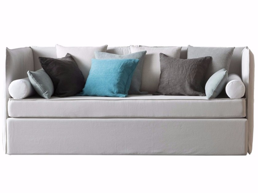 Contemporary style 2 seater upholstered fabric sofa bed with removable cover CALLIOPE by Chaarme