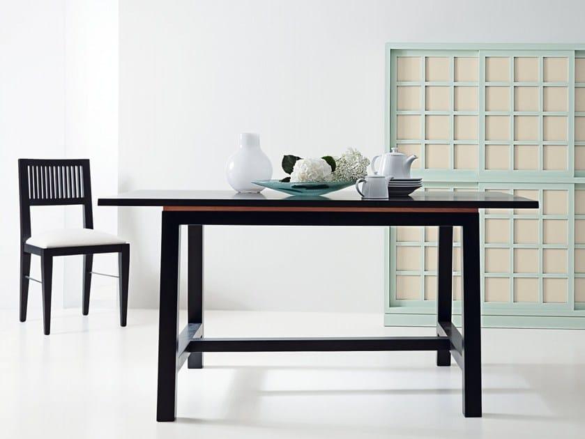 Rectangular wooden dining table CALVERO 6067 - MARKTEX
