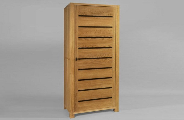 Wooden wardrobe with 1 door CAMÉLIA | Wardrobe with 1 door - DASRAS