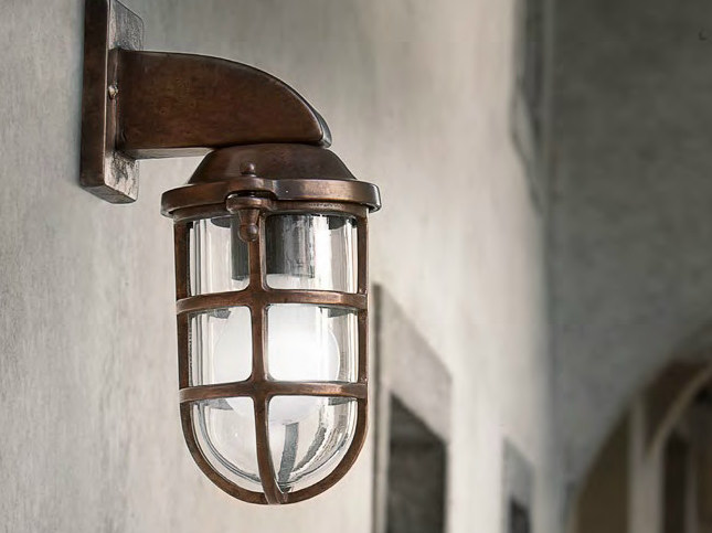 Direct-indirect light wall lamp with fixed arm CAMBUSA by Aldo Bernardi