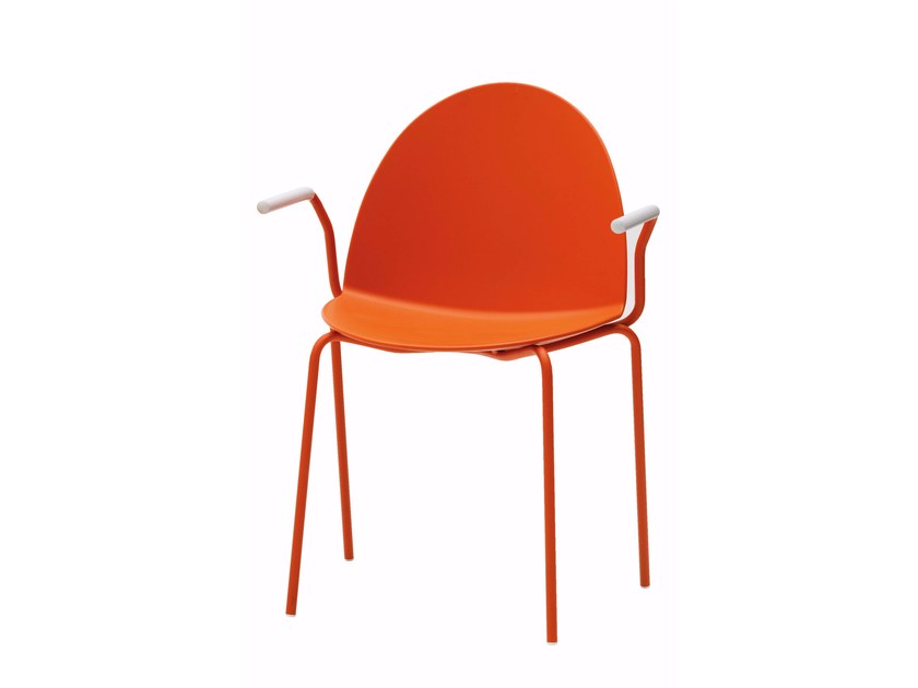 Polypropylene chair with armrests CAMEL | Chair with armrests - Segis