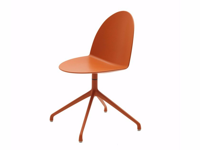 Swivel trestle-based polypropylene chair CAMEL | Polypropylene chair - Segis