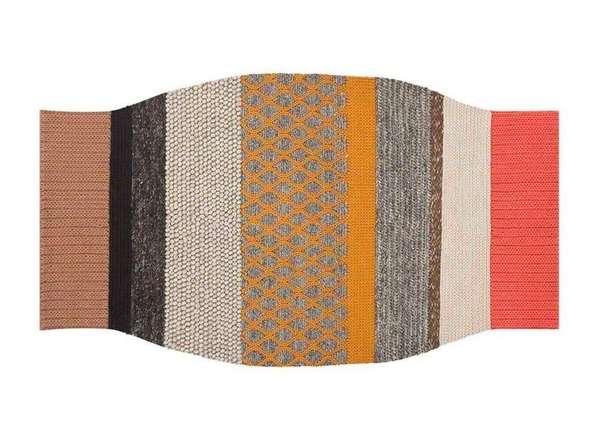 Striped wool rug CAMPANA | Rug by GAN