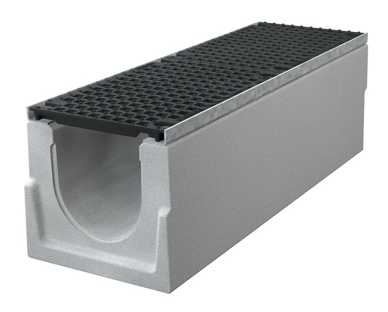 Concrete Drainage channel and part CANALE BIG I 200 H320 | Drainage channel and part by GREENPIPE