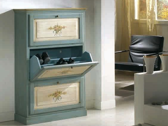 Lacquered solid wood shoe cabinet CANALETTO | Shoe cabinet by Arvestyle