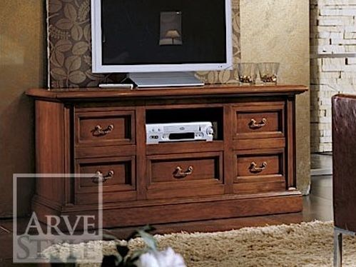 Lacquered solid wood TV cabinet CANALETTO | TV cabinet - Arvestyle